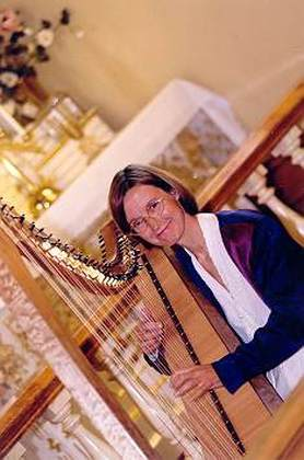 Alison playing Nova Harp in St. Ann's Chapel in Victoria BC